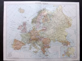 Gross 1920 Large Map. Europe - Political